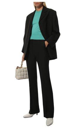 Женский шелковый пуловер DOLCE & GABBANA бирюзового цвета, арт. FXC93T/JAS0P | Фото 2