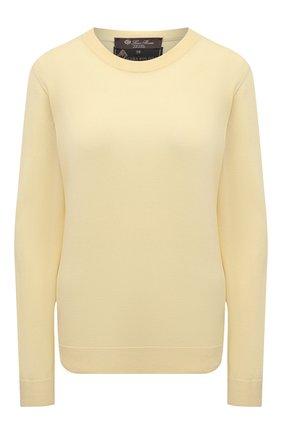 Женский шерстяной пуловер LORO PIANA  цвета, арт. FAL6605/VVIC   Фото 1