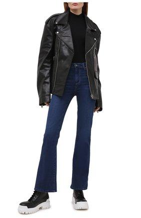 Женские джинсы PAIGE темно-синего цвета, арт. 6487F46-4779   Фото 2