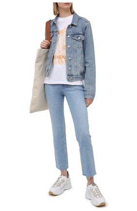 Женские джинсы PAIGE голубого цвета, арт. 5512E77-3261   Фото 2