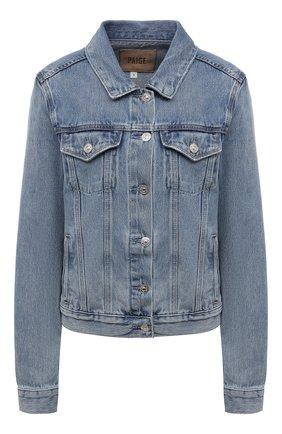 Женская джинсовая куртка PAIGE голубого цвета, арт. 5435I07-4693 | Фото 1