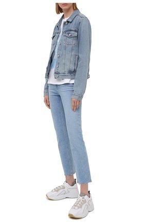 Женская джинсовая куртка PAIGE голубого цвета, арт. 5435I07-4693 | Фото 2