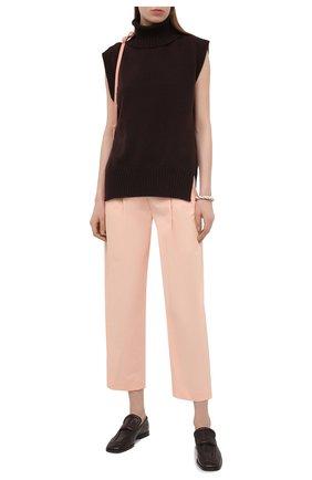 Женские хлопковые брюки TELA светло-розового цвета, арт. 01 0157 14 8028 | Фото 2