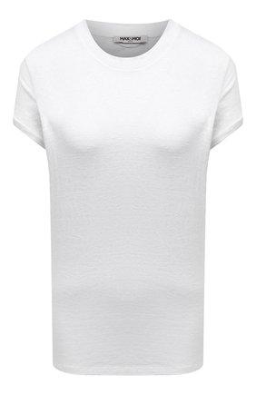 Женская льняная футболка MAX&MOI белого цвета, арт. PERTAIWAN | Фото 1