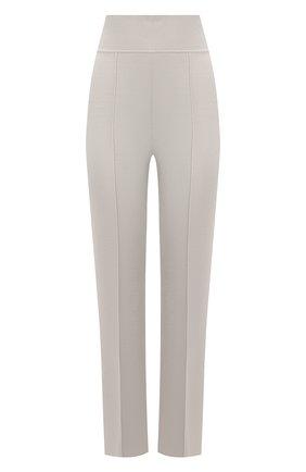 Женские брюки из вискозы GIORGIO ARMANI светло-бежевого цвета, арт. 3KAP02/AM28Z   Фото 1