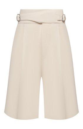 Женские шерстяные шорты RALPH LAUREN светло-бежевого цвета, арт. 290840159   Фото 1