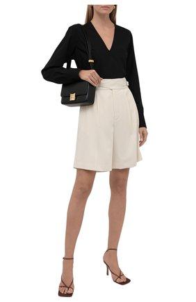 Женские шерстяные шорты RALPH LAUREN кремвого цвета, арт. 290840159 | Фото 2 (Длина Ж (юбки, платья, шорты): Мини; Материал подклада: Шелк; Материал внешний: Шерсть; Кросс-КТ: Широкие; Женское Кросс-КТ: Шорты-одежда; Стили: Кэжуэл)