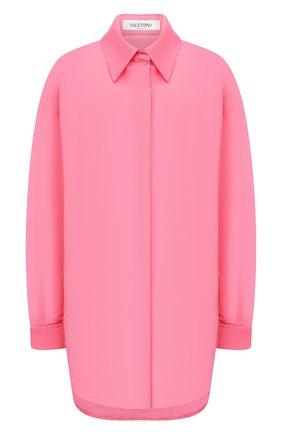 Женская шелковая куртка VALENTINO розового цвета, арт. VB0CI0K56DE   Фото 1