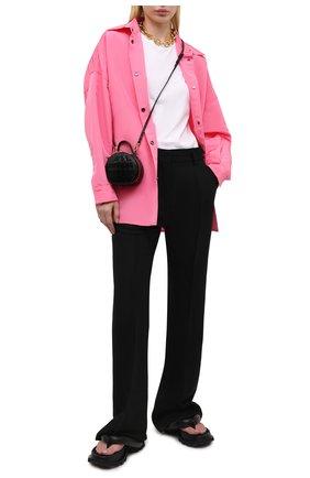 Женская шелковая куртка VALENTINO розового цвета, арт. VB0CI0K56DE   Фото 2