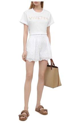 Женская хлопковая футболка VIVETTA белого цвета, арт. 21E V2M0/F041/6953 | Фото 2