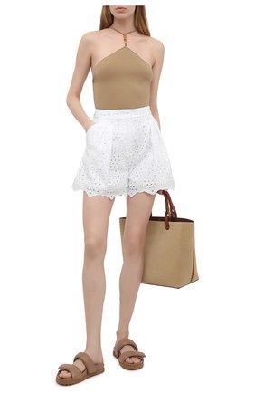 Женские шорты VIVETTA белого цвета, арт. 21E V2M0/D011/0082 | Фото 2