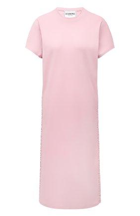 Женское хлопковое платье ICEBERG светло-розового цвета, арт. 21E I2P0/H011/6307 | Фото 1