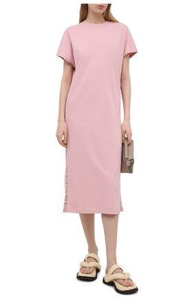 Женское хлопковое платье ICEBERG светло-розового цвета, арт. 21E I2P0/H011/6307 | Фото 2