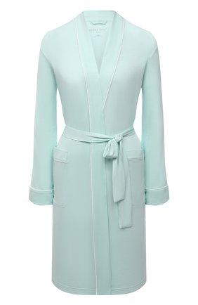 Женский халат DEREK ROSE светло-зеленого цвета, арт. 1278-LARA001 | Фото 1