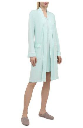 Женский халат DEREK ROSE светло-зеленого цвета, арт. 1278-LARA001 | Фото 2