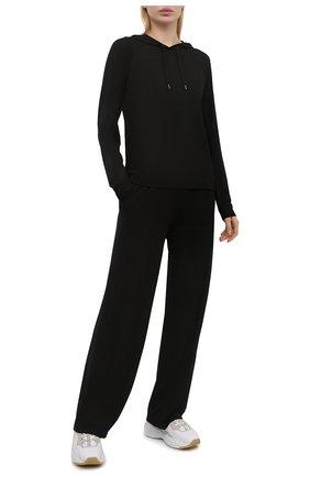 Женские брюки DEREK ROSE черного цвета, арт. 1240-BASE001 | Фото 2