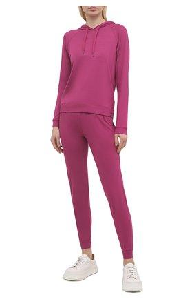 Женская худи DEREK ROSE фуксия цвета, арт. 1232-BASE010 | Фото 2