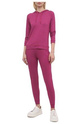 Женские брюки DEREK ROSE фуксия цвета, арт. 1230-BASE010 | Фото 2