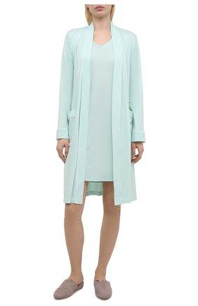 Женская сорочка DEREK ROSE светло-зеленого цвета, арт. 1207-LARA001 | Фото 2