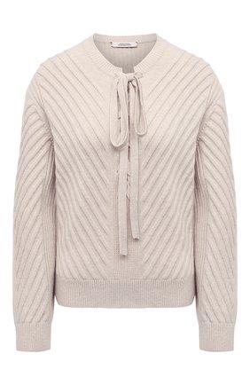 Женский шерстяной пуловер DOROTHEE SCHUMACHER светло-бежевого цвета, арт. 216002/URBAN BREATH | Фото 1