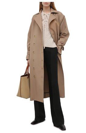 Женский шерстяной пуловер DOROTHEE SCHUMACHER светло-бежевого цвета, арт. 216002/URBAN BREATH | Фото 2