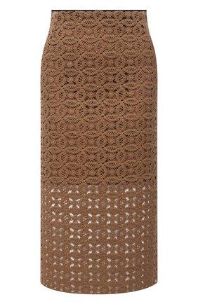 Женская хлопковая юбка DOROTHEE SCHUMACHER коричневого цвета, арт. 242201/B0LD STATEMENT | Фото 1
