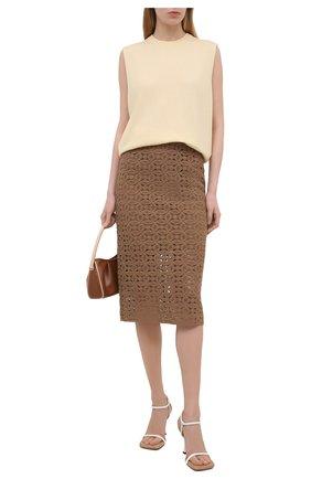 Женская хлопковая юбка DOROTHEE SCHUMACHER коричневого цвета, арт. 242201/B0LD STATEMENT | Фото 2