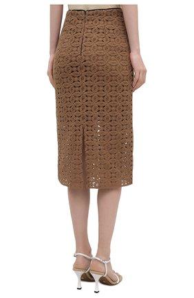 Женская хлопковая юбка DOROTHEE SCHUMACHER коричневого цвета, арт. 242201/B0LD STATEMENT | Фото 4