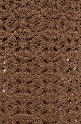 Женская хлопковая юбка DOROTHEE SCHUMACHER коричневого цвета, арт. 242201/B0LD STATEMENT | Фото 5