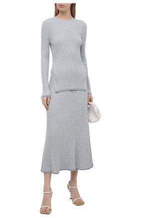 Женский пуловер из вискозы THEORY светло-голубого цвета, арт. L0116715 | Фото 2