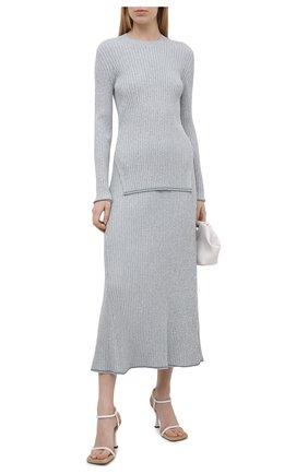 Женская юбка из вискозы THEORY светло-голубого цвета, арт. L0116717 | Фото 2