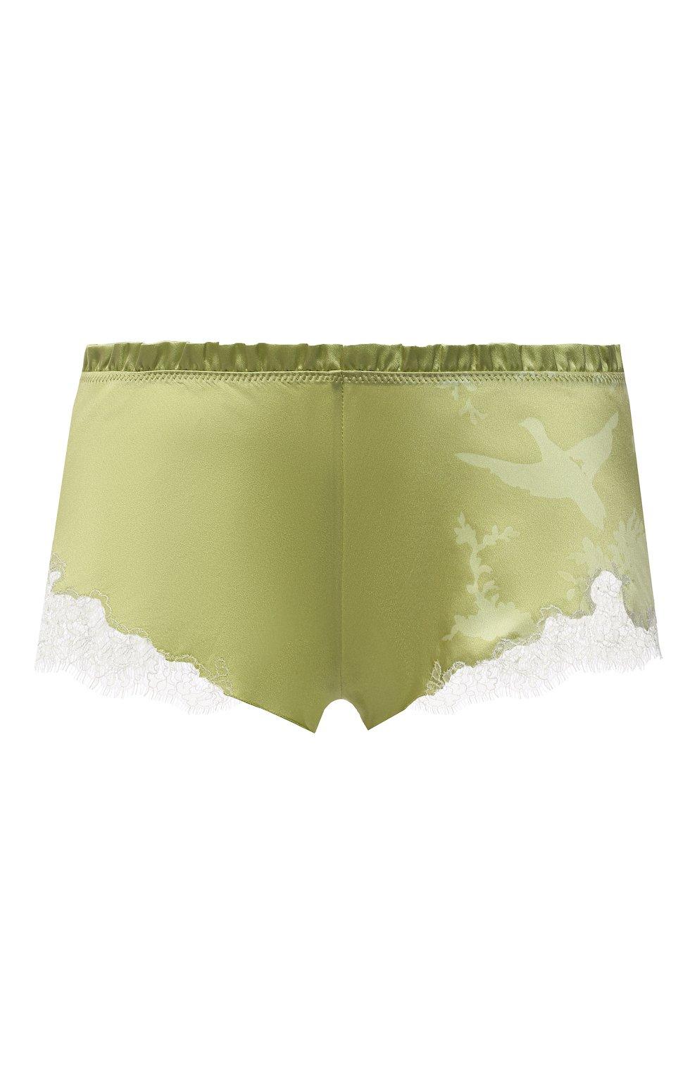 Женские шелковые шорты CARINE GILSON зеленого цвета, арт. RG0768CG S21 | Фото 1