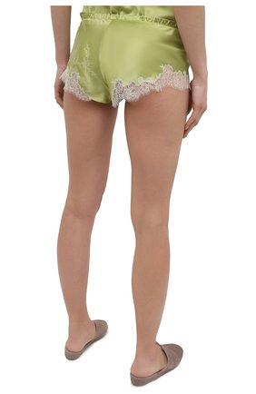 Женские шелковые шорты CARINE GILSON зеленого цвета, арт. RG0768CG S21 | Фото 4