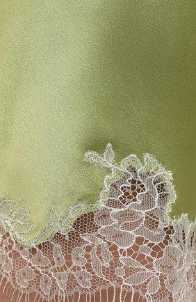 Женские шелковые шорты CARINE GILSON зеленого цвета, арт. RG0768CG S21 | Фото 5