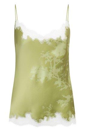Женская шелковый топ CARINE GILSON зеленого цвета, арт. RG0853CG S21 | Фото 1