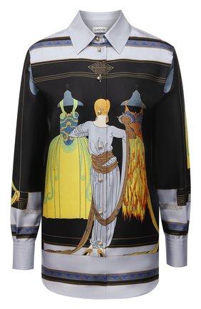 Женская шелковая рубашка LANVIN разноцветного цвета, арт. RW-T0652I-4848-P21 | Фото 1