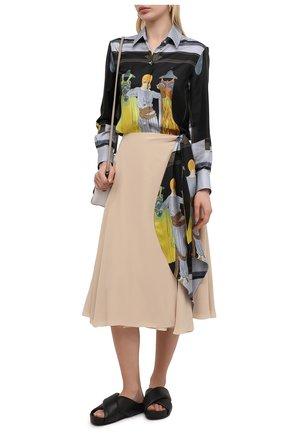 Женская шелковая юбка LANVIN светло-бежевого цвета, арт. RW-ST417T-4868-P21 | Фото 2