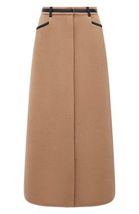 Женская кашемировая юбка GABRIELA HEARST бежевого цвета, арт. 321310 C015 | Фото 1