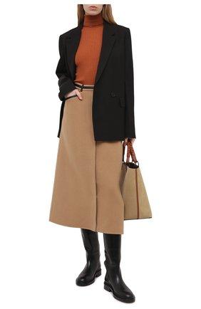 Женская кашемировая юбка GABRIELA HEARST бежевого цвета, арт. 321310 C015 | Фото 2
