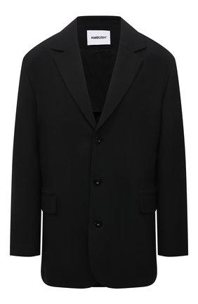 Женский жакет из вискозы AMBUSH черного цвета, арт. BWEN009S21FAB001   Фото 1