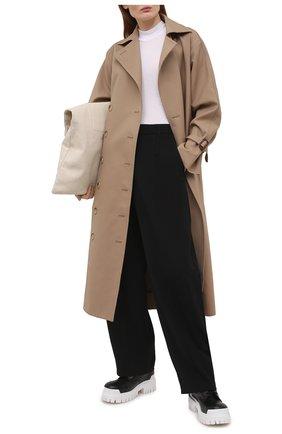 Женские брюки AMBUSH черного цвета, арт. BWCA008S21FAB001   Фото 2