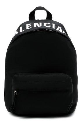 Женский рюкзак wheel BALENCIAGA черного цвета, арт. 565798/H853X | Фото 1 (Размер: medium; Материал: Текстиль; Стили: Спорт)