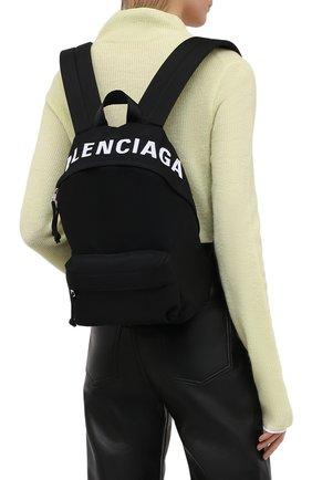 Женский рюкзак wheel BALENCIAGA черного цвета, арт. 565798/H853X | Фото 2 (Размер: medium; Материал: Текстиль; Стили: Спорт)