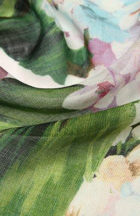 Женский шарф из кашемира и шелка DOLCE & GABBANA голубого цвета, арт. FS209A/G2SCB | Фото 2