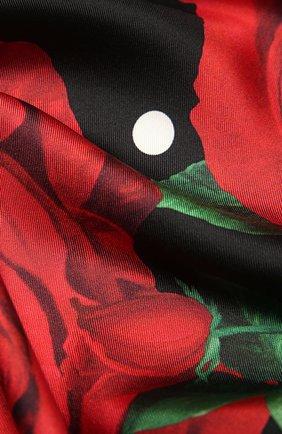 Женский шелковый платок DOLCE & GABBANA красного цвета, арт. FN090R/GDW85 | Фото 2