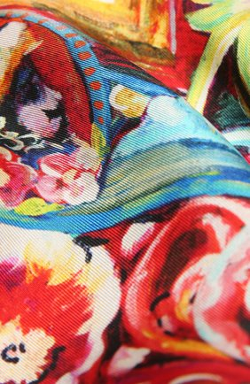 Женский шелковый платок DOLCE & GABBANA красного цвета, арт. FN090R/G0TFY   Фото 2