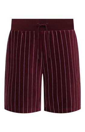 Мужские хлопковые шорты lacoste x ricky regal LACOSTE бордового цвета, арт. GH1784   Фото 1