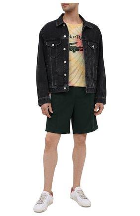 Мужская хлопковая футболка lacoste x ricky regal LACOSTE разноцветного цвета, арт. TH1766 | Фото 2
