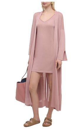 Женское платье из вискозы FREEAGE бежевого цвета, арт. FSW21010318NU | Фото 2