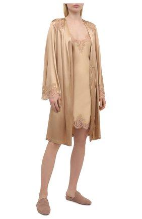 Женская шелковая сорочка I.D. SARRIERI бежевого цвета, арт. L4840 | Фото 2